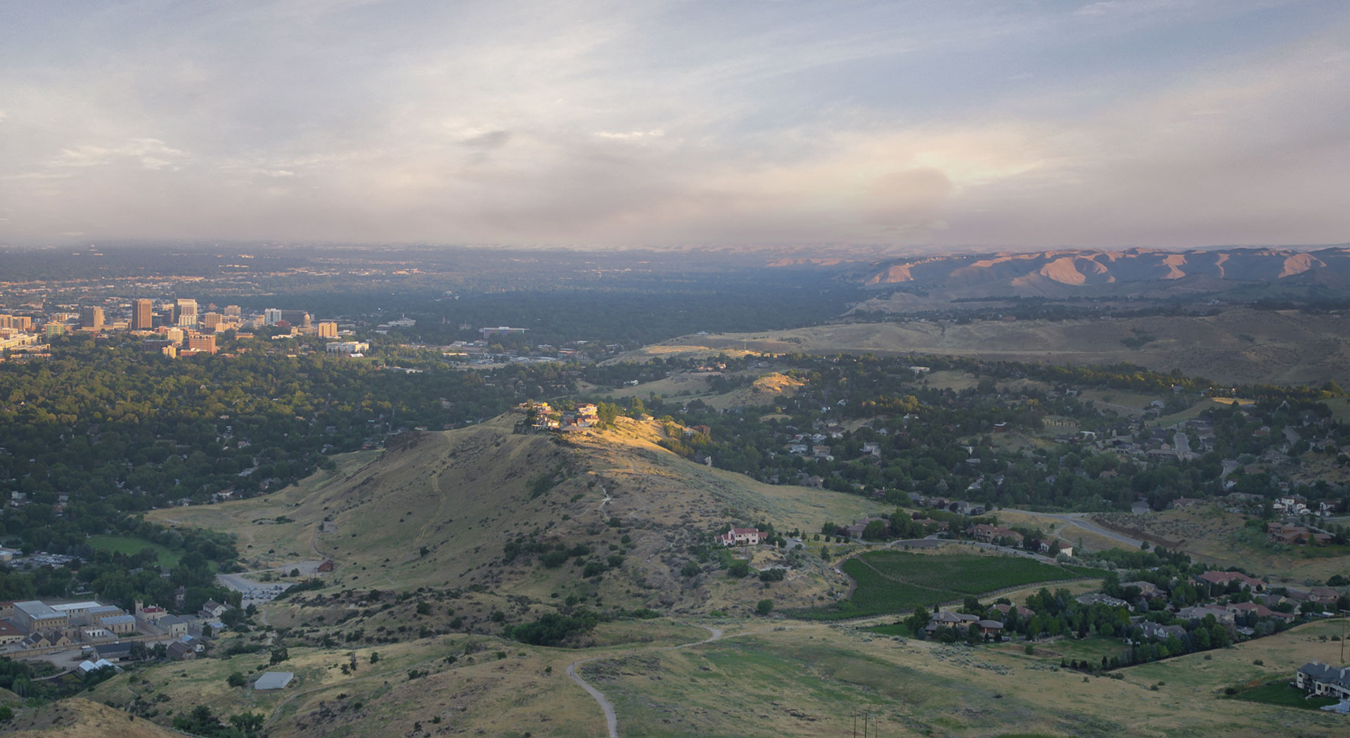 Boise Idaho from Table Rock