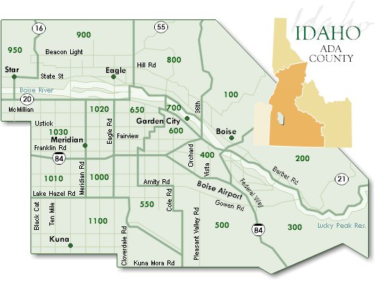 Ada County Idaho MLS Area Map