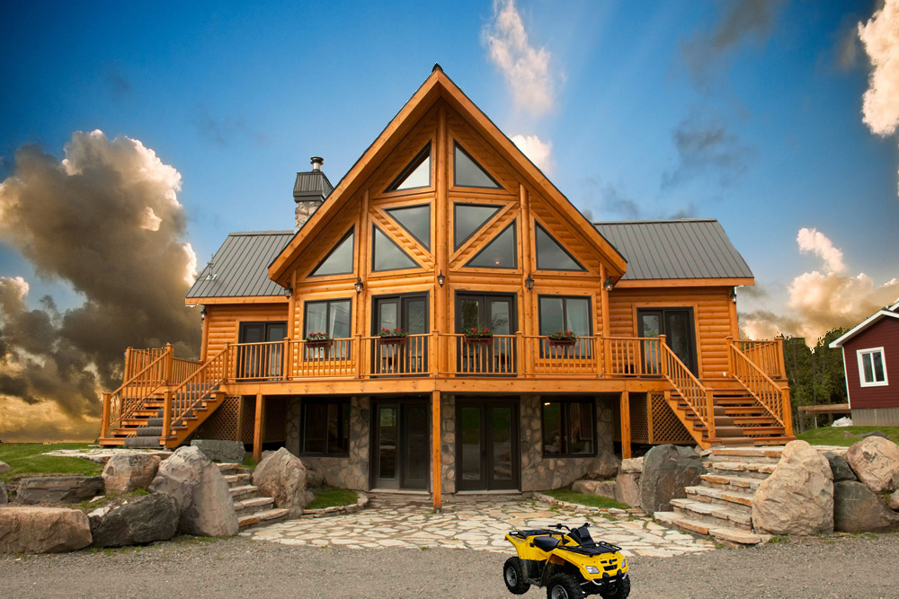 Idaho log homes for Building a house in idaho