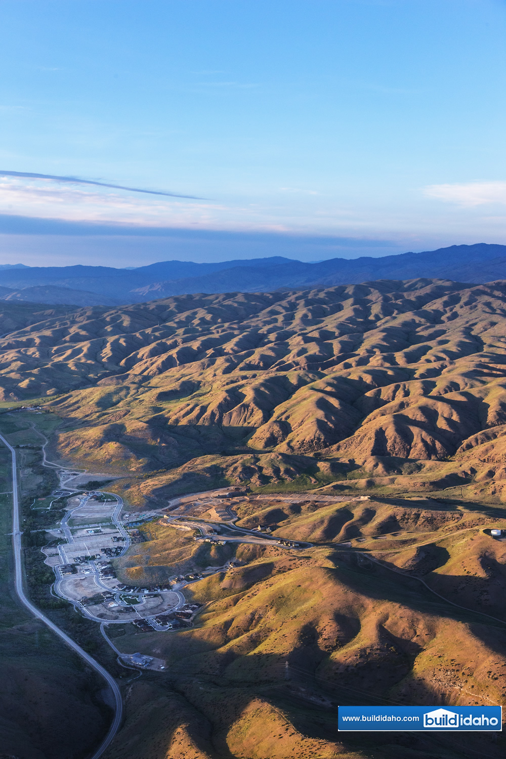 Boise Idaho Foothills Aerial Photo