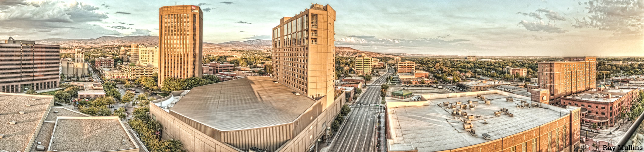 Boise Idaho Panoramic Photo of City