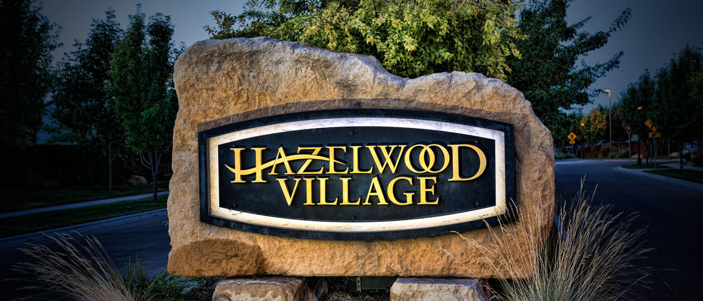 Hazelwood Village Community Entrance