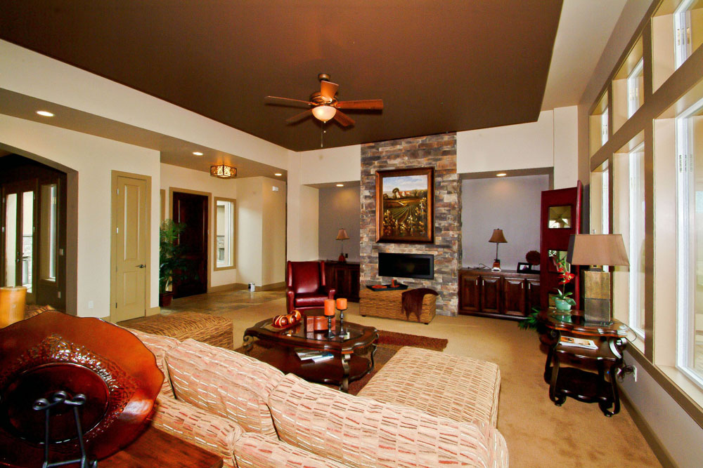 Blackstead Building Company 2011 Meridian Parade Home Living Room