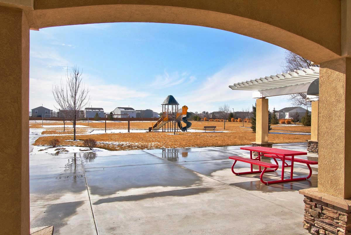 Charter Pointe Community Clubhouse Covered Patio