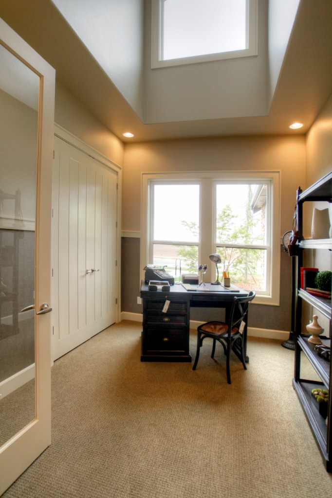 Boise Custom Home-Office by Solitude Homes