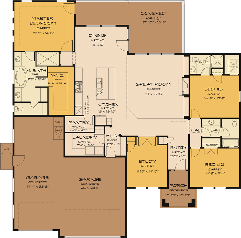 Telluride Floorplan By Sunrise Homes Of Idaho Build