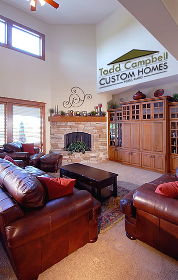 Custom Idaho Home- Living Room