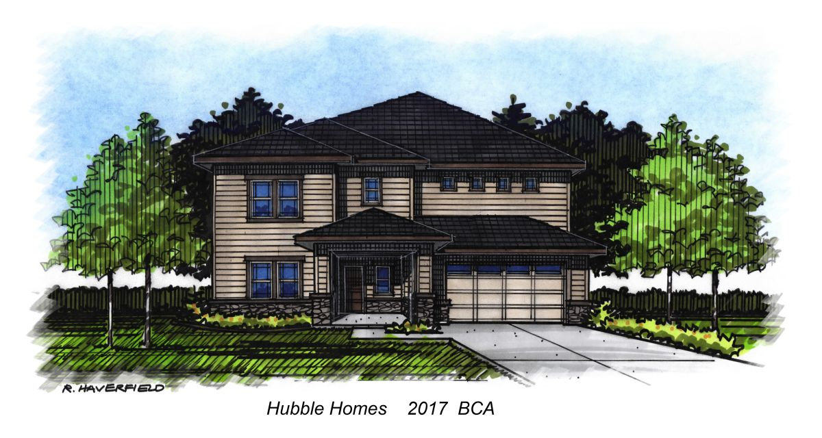 Hubble Homes 2017 Parade Home at White Acres Subdivision in Meridian