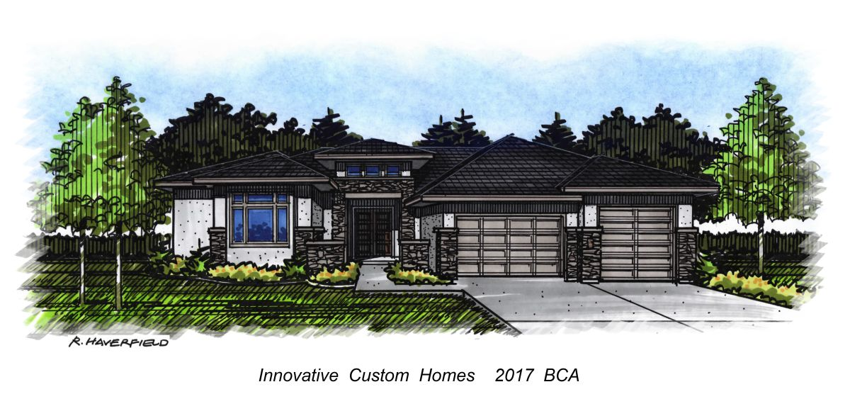 Innovation Custom Homes 2017 Parade Home at Sky Mesa Subdivision in Meridian
