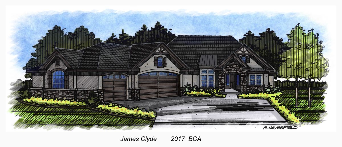 James Clyde Custom Homes 2017 Parade Home at Heron River Subdivision in Star