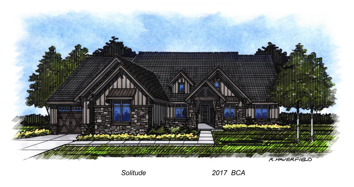 Solitude Homes 2017 Parade Home at Lakeside Retreats at Legacy Subdivision in Kuna