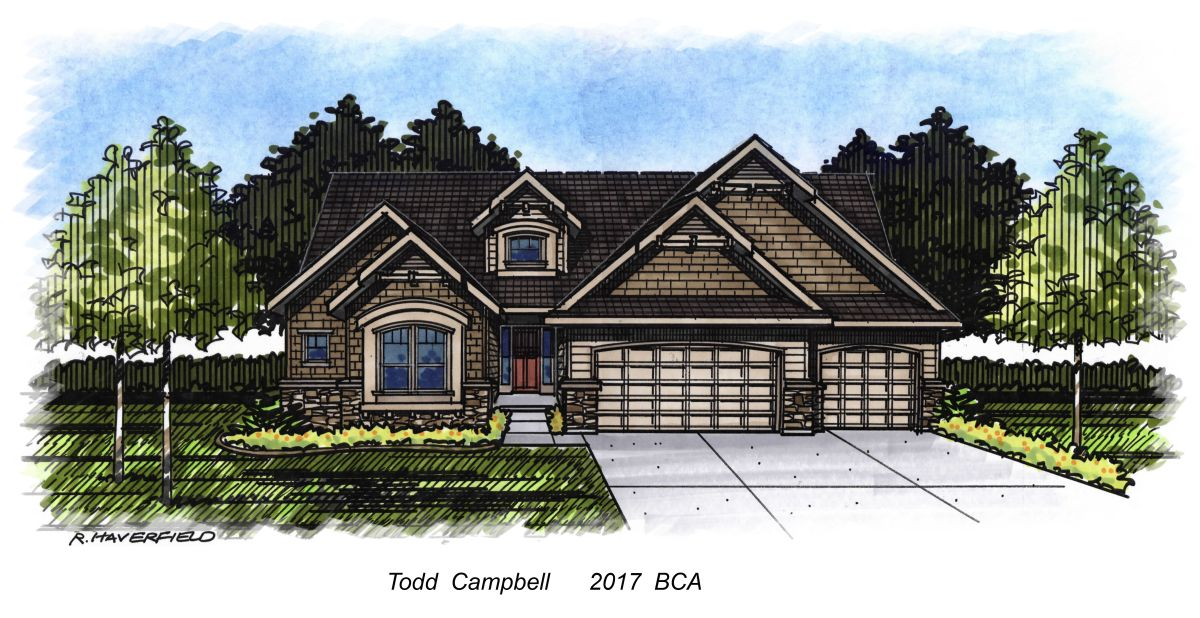 Todd Campbell Custom Homes 2017 Parade Home at Century Farm Subdivision in Meridian
