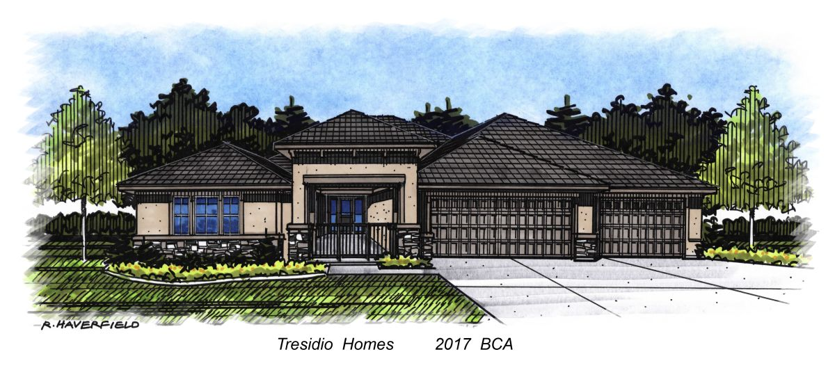 Tresidio Homes 2016 Parade Home at Reflection Ridge Subdivision in Meridian