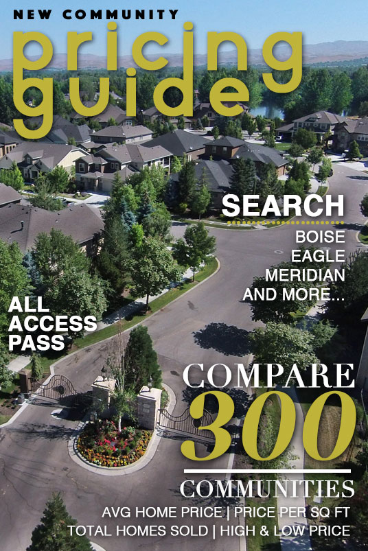 Boise Idaho New Community Pricing Guide