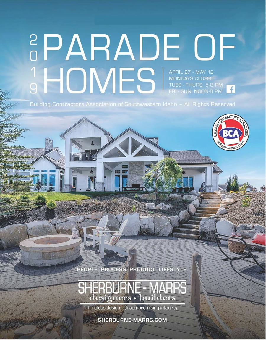 2019 Boise Idaho Parade of Homes. April 27th to may 12th