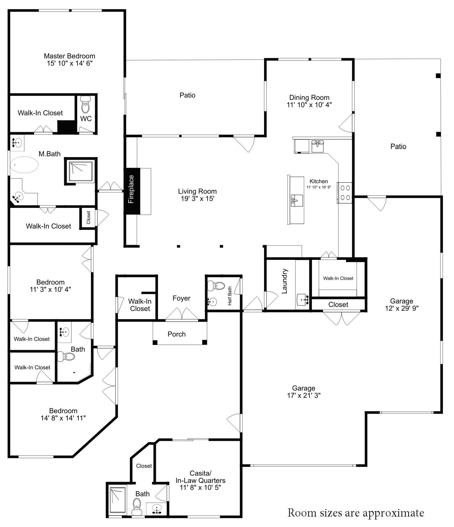 Superior Construction Custom Home main Level Floor Floorplan