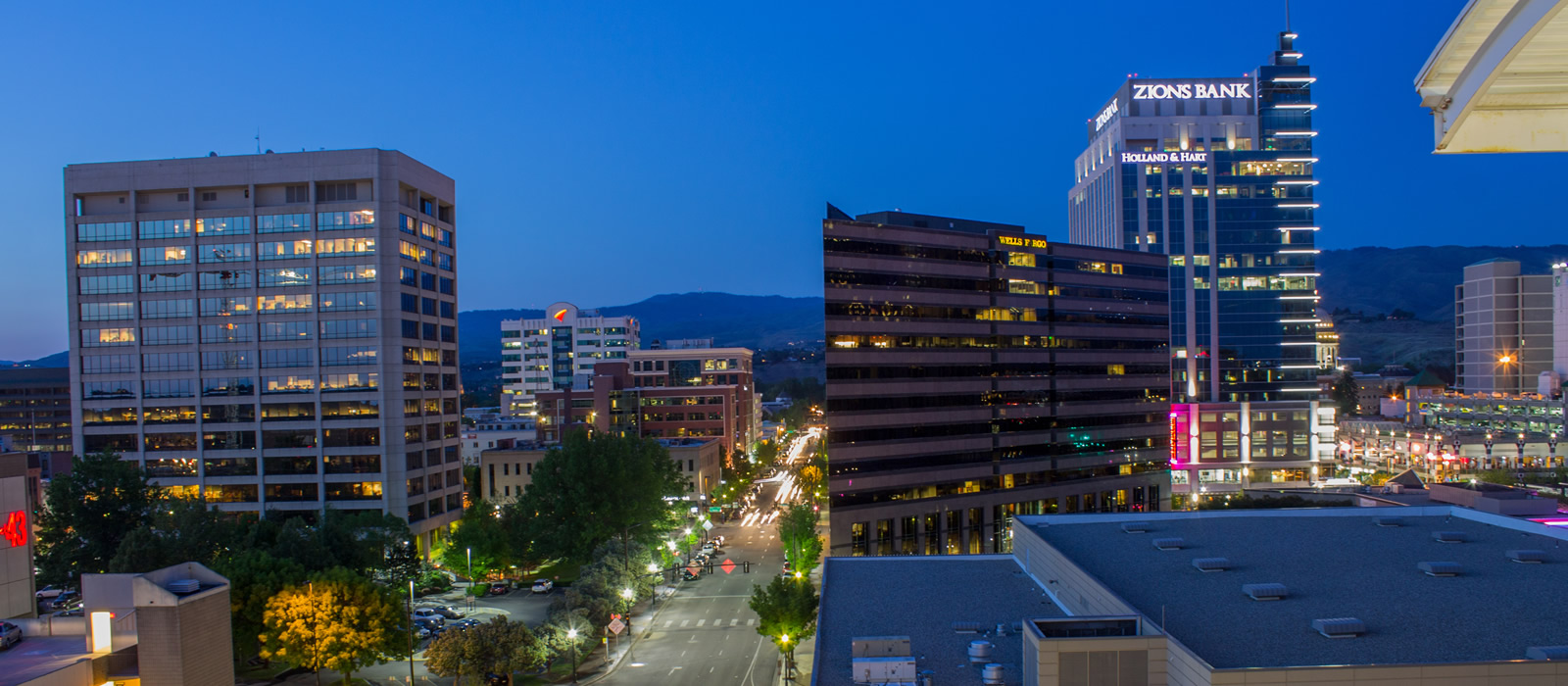 Downtown Boise Idaho at night