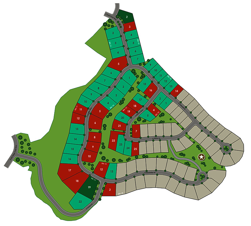 Boulder Point Subdivision Plat Map