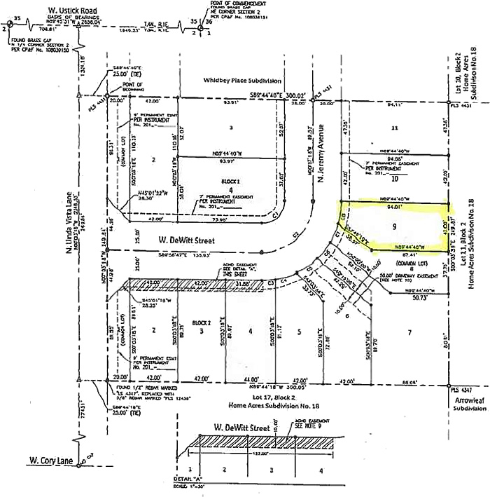 Powder River Subdivision Plat Map