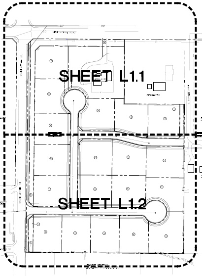 Diamante Subdivision Plat Map