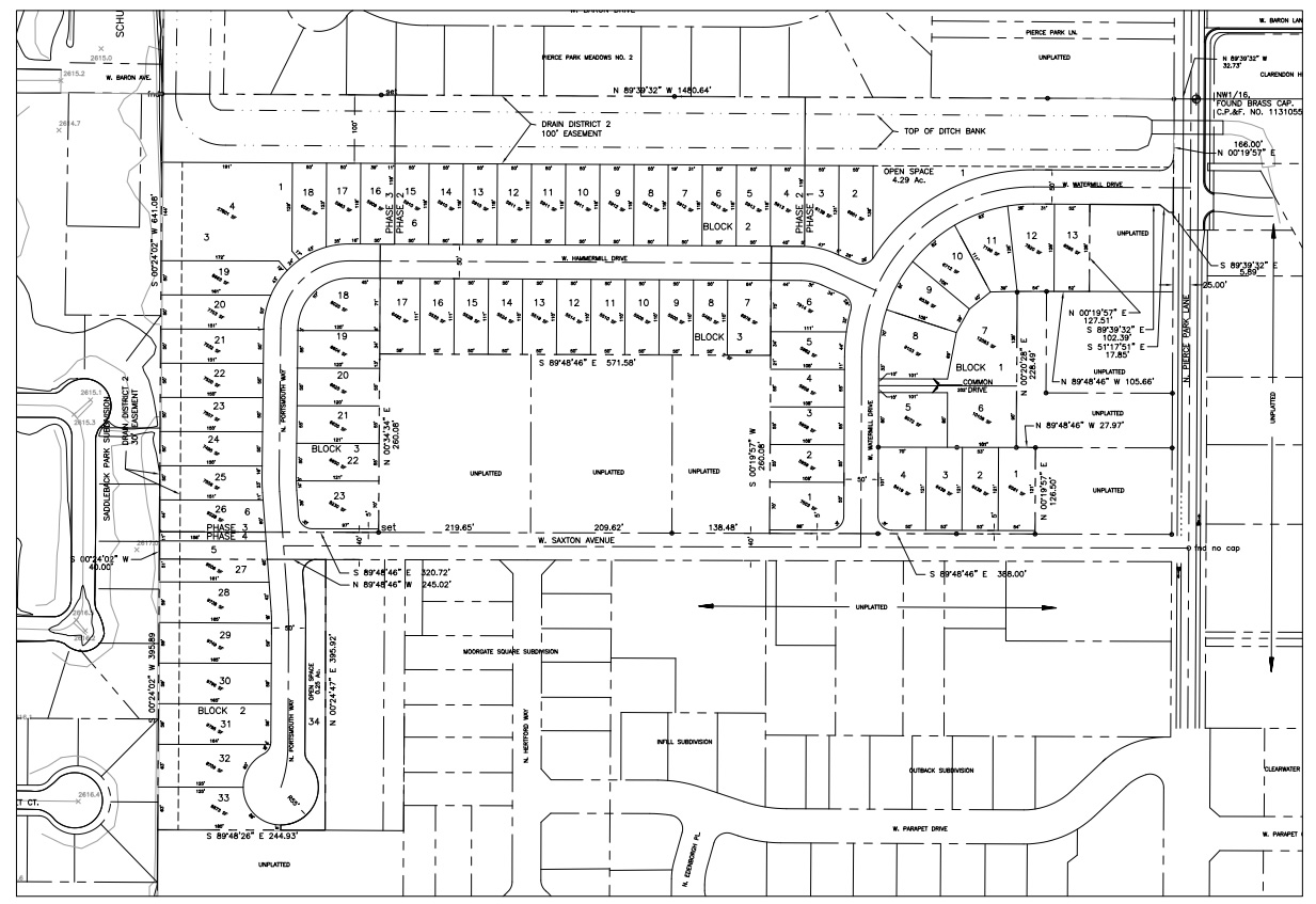 Millwell Place Subdivision Plat Map