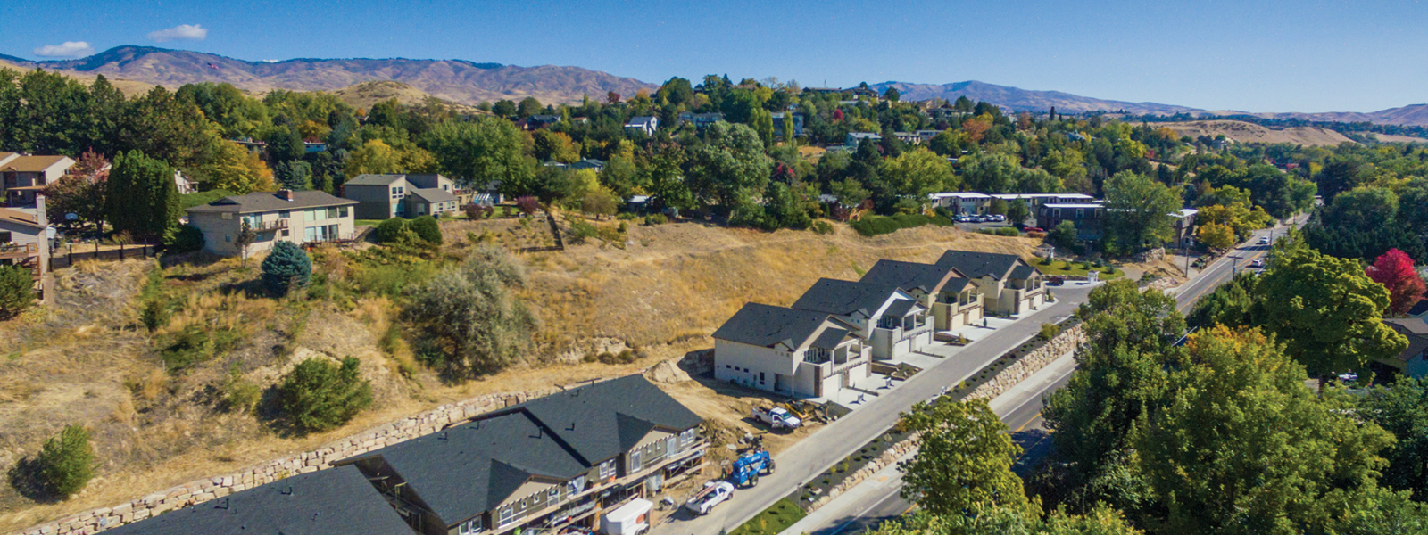 North Hill Townhomes in Boise Idaho foothills. Photo by Build Idaho