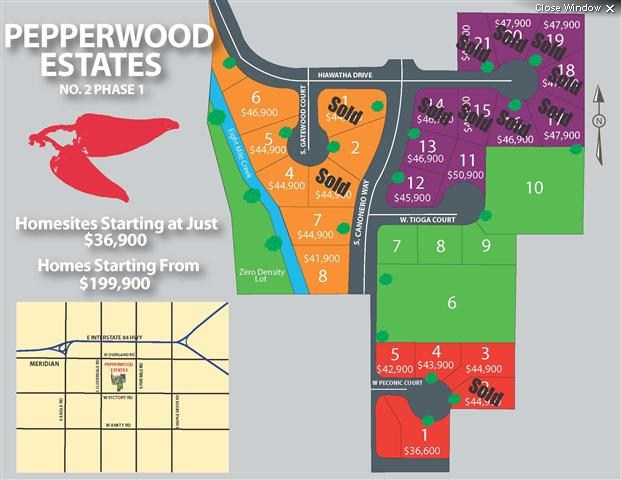 Pepperwood Place Estates Boise Idaho