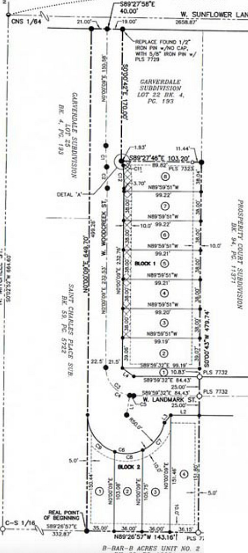 The Avenue Subdivision Plat Map