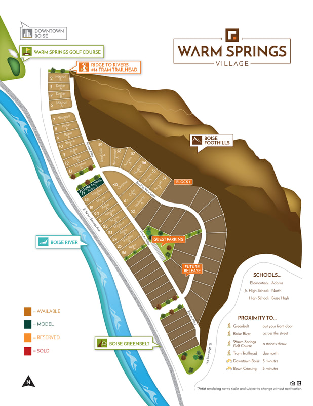 Warm Springs Village Plat Map