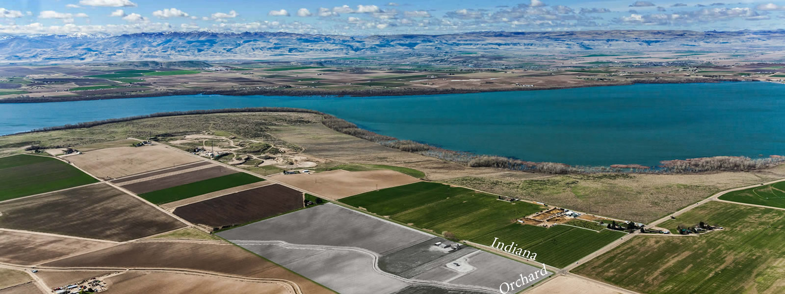 Aerial Photo of Lake Lowell in Caldwell Idaho