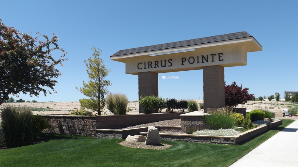 Cirrus Pointe Entrance in Caldwell Idaho
