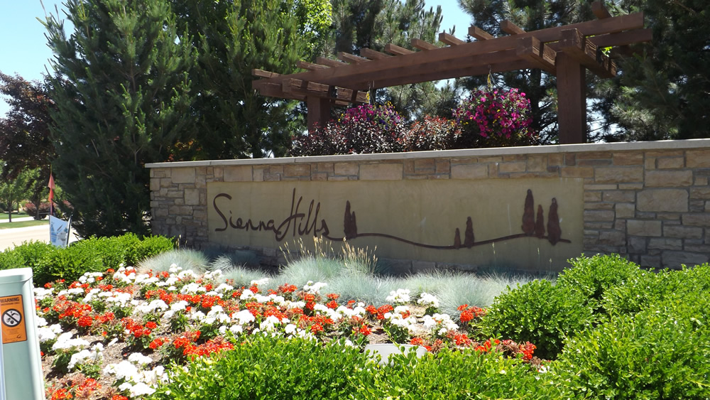 Sienna HIlls of Caldwell Idaho entrance