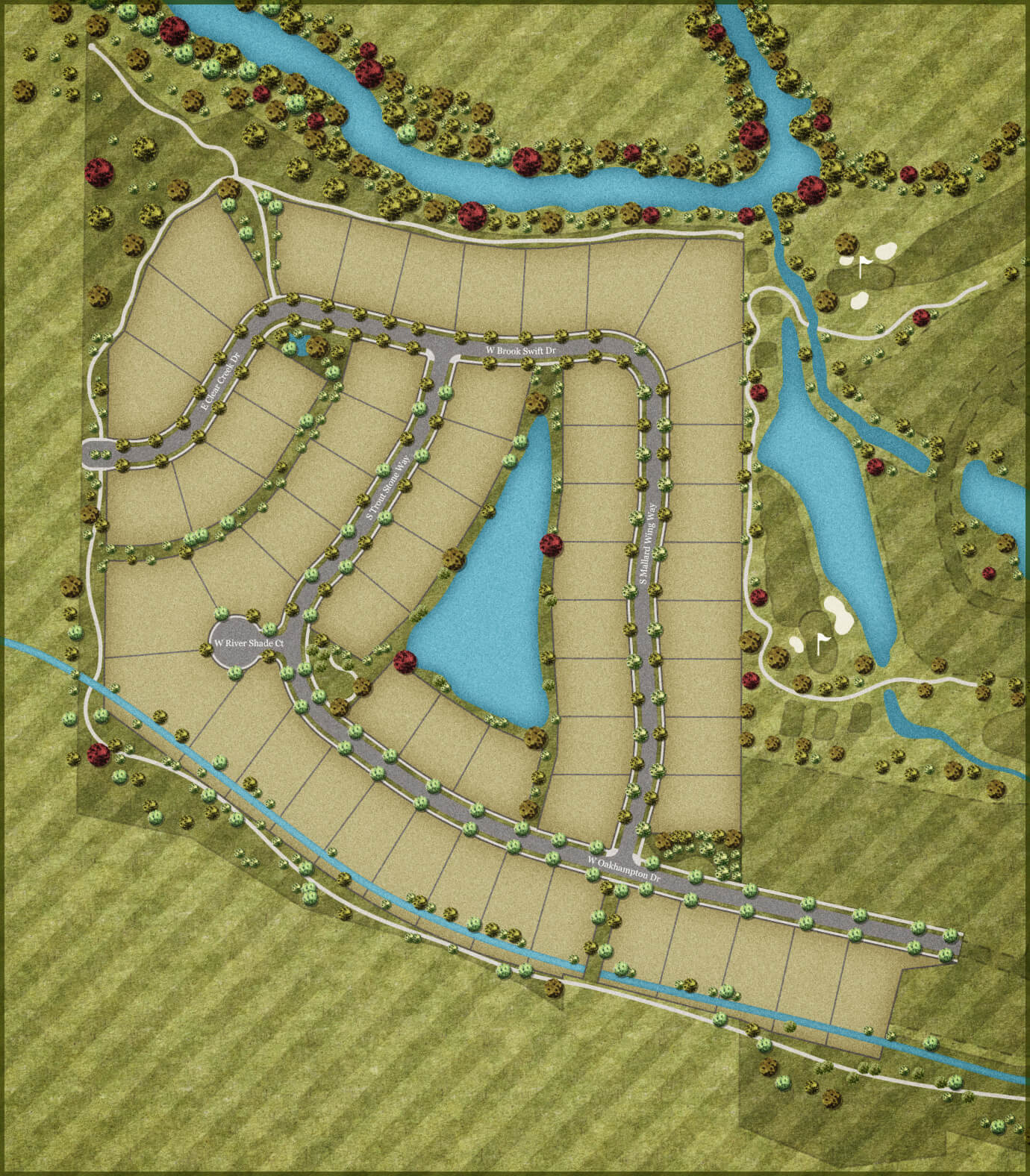 Creighton Woods Plat Map