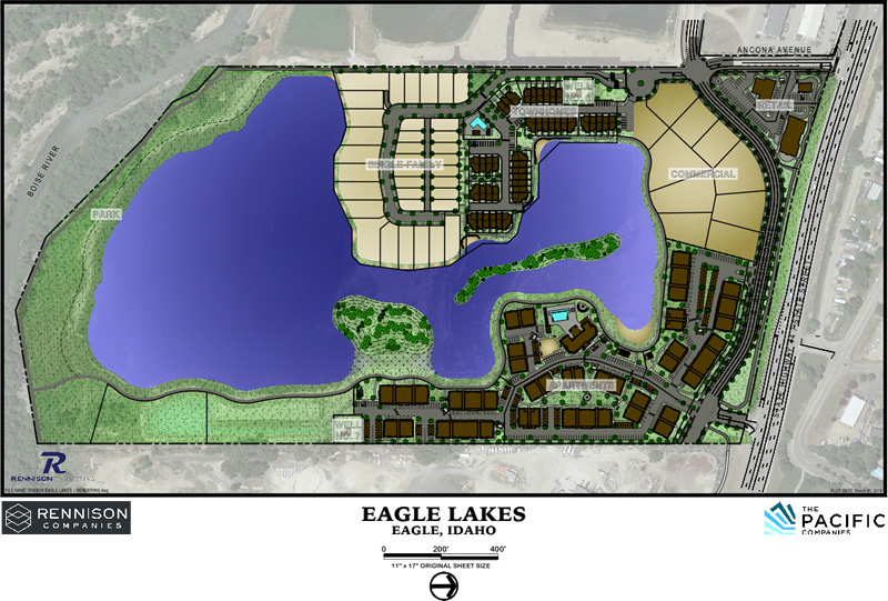 Eagle Lakes Subdivision (Eagle ID) Plat Map