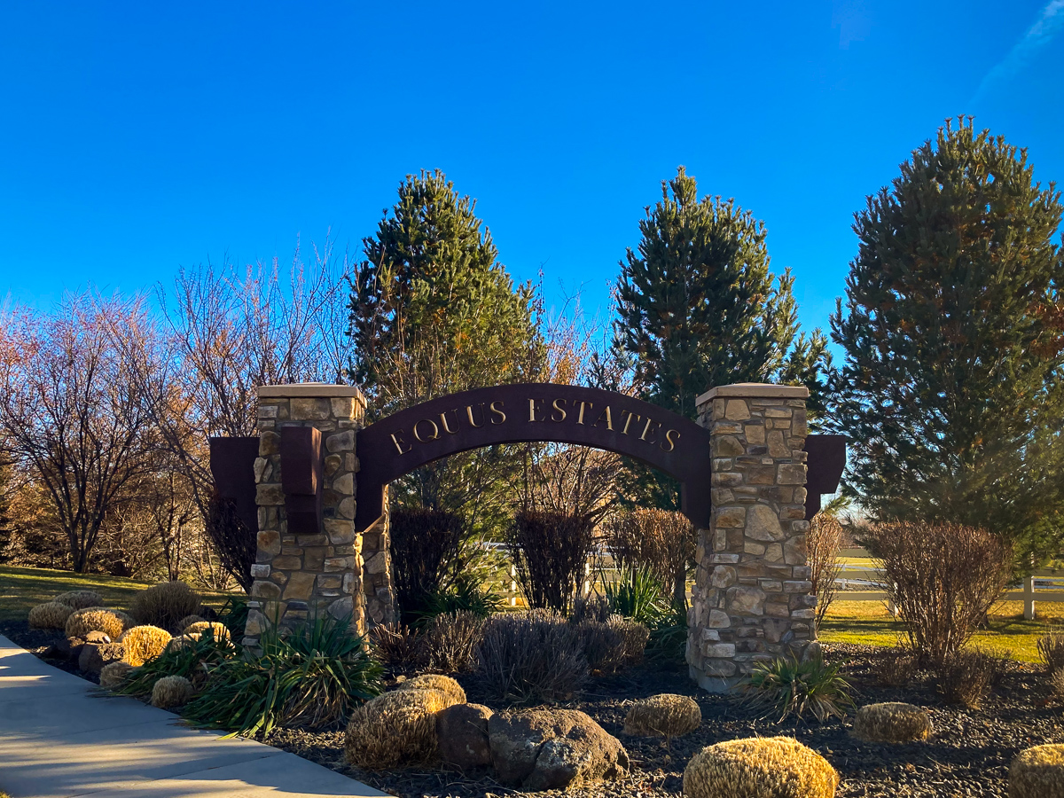 Equus Estates Community Entrance