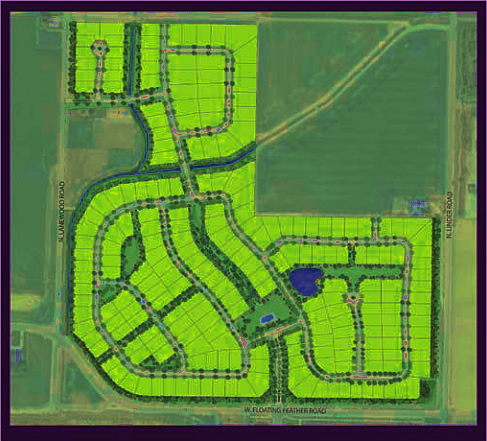 Homestead Subdivision Plat Map