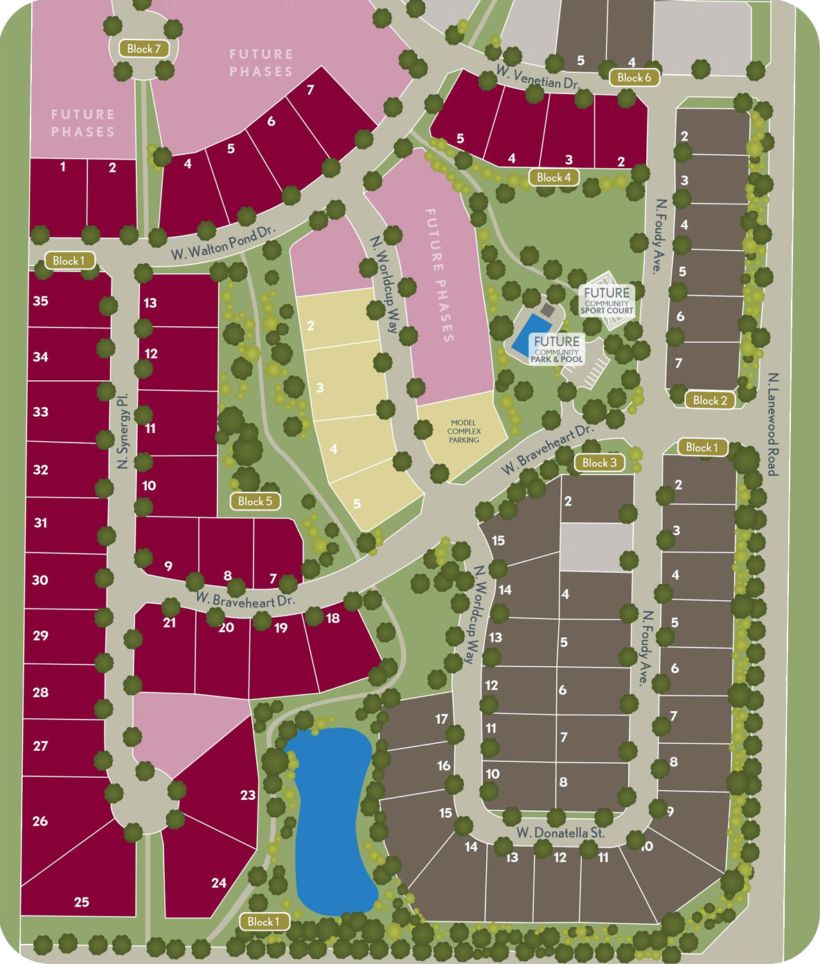 Lilac Springs Subdivision Community Map