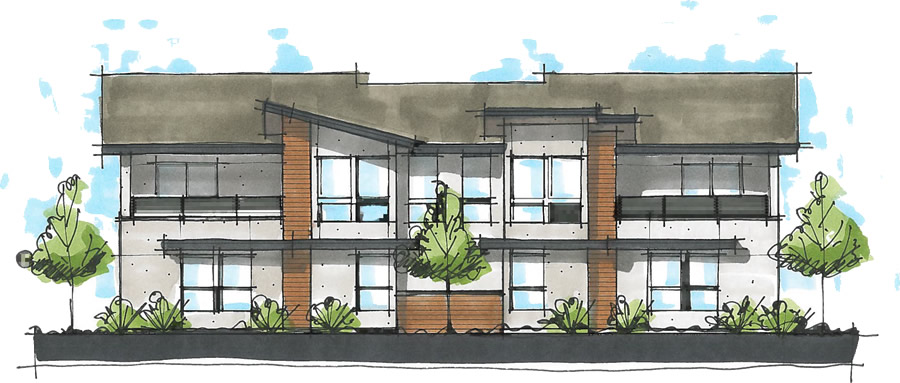 tandem Ridge Rendering of Townhomes