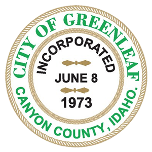 City of Greenleaf Idaho logo