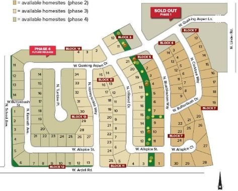 Arbor Ridge Subdivision Plat Map