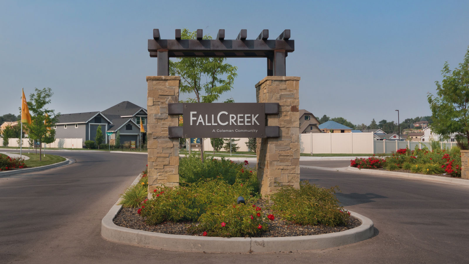 Fall Creek Community Entrance