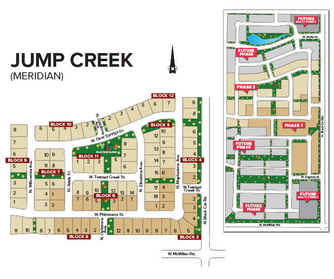 Jump Creek Plat Map