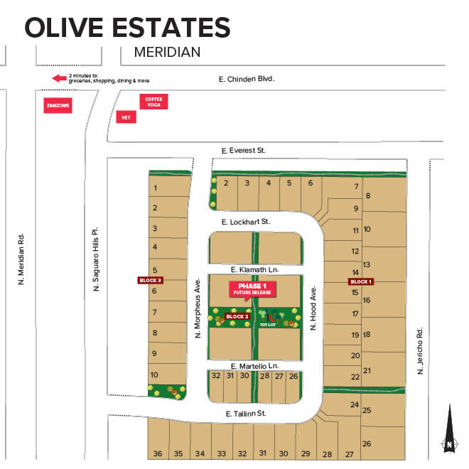 Olive Estates in north Meridian Idaho