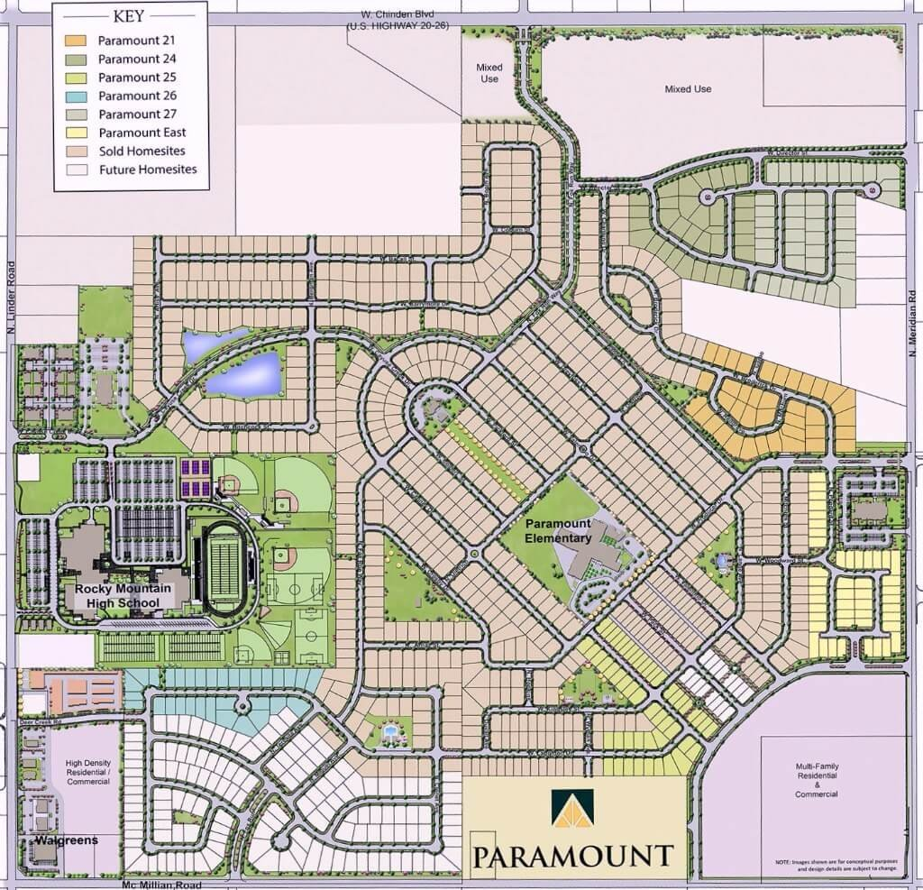 Paramount Community Plat Map (Master Plan)