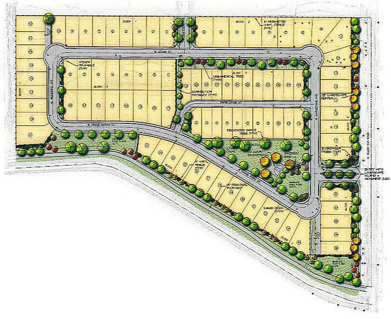 Rapid Creek Subdivision Plat Map