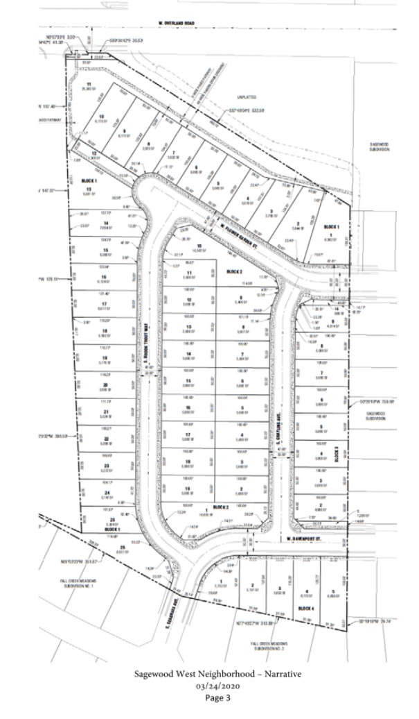Sagweood West Subdivision Plat map