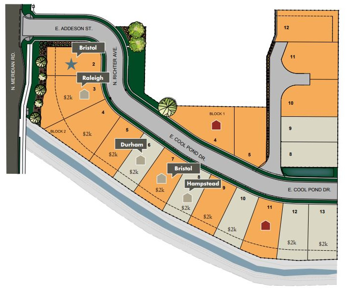 Settlers Lane Subdivision Plat Map
