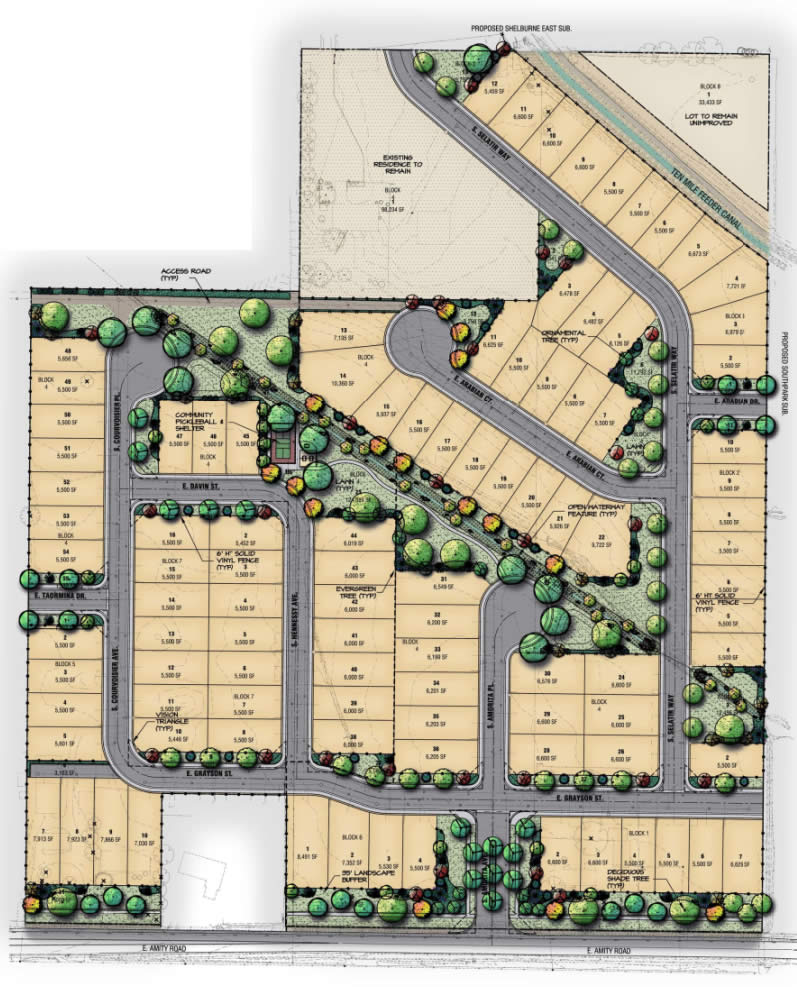 Shelburne Subdivision Phase 2 Plat Map