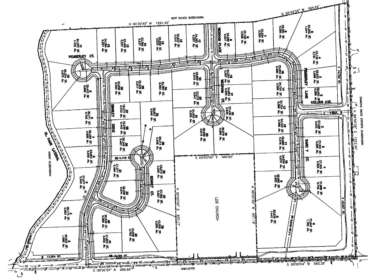The Keep Subdivision Meridian Idaho. Plat Map