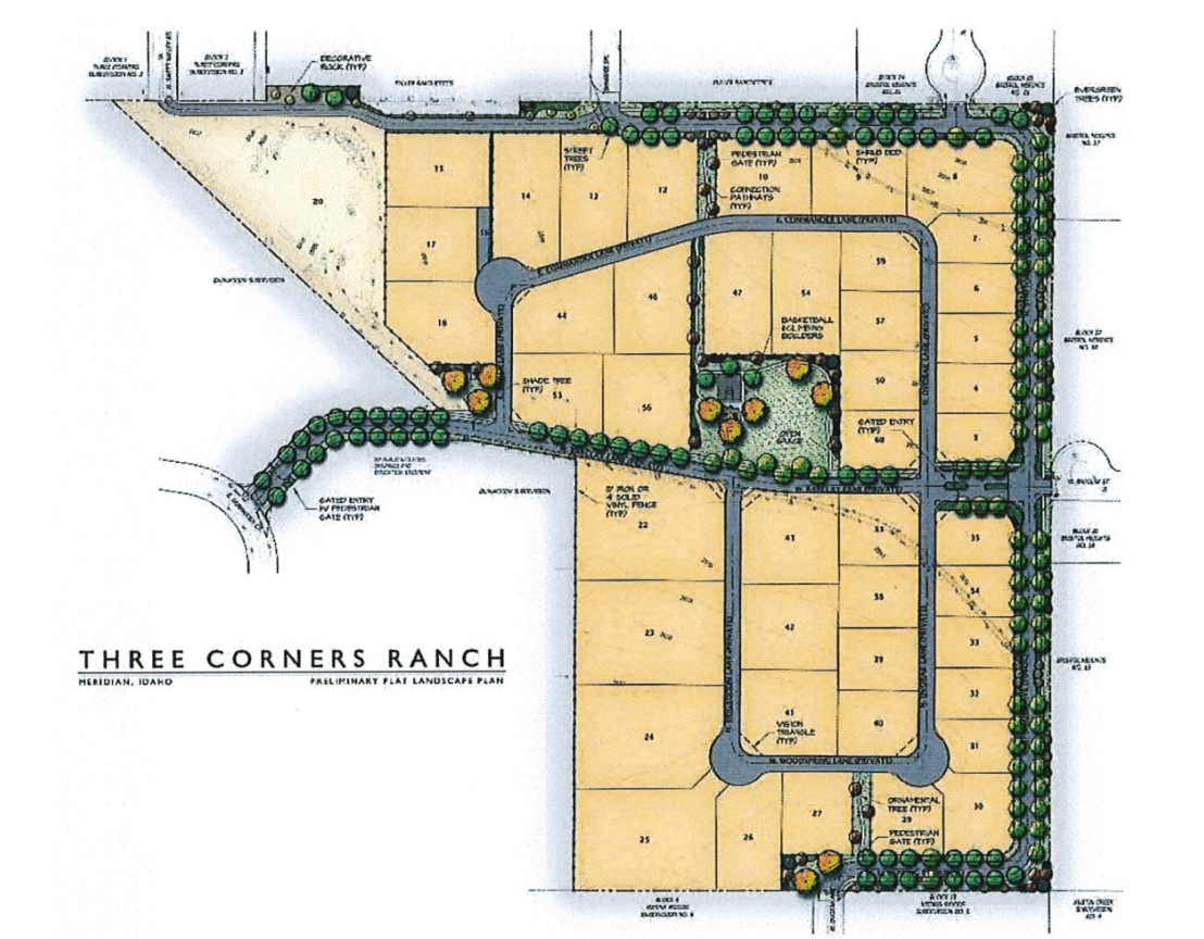 Three Corners Ranch Plat Map